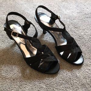 Black Sparkle Heels